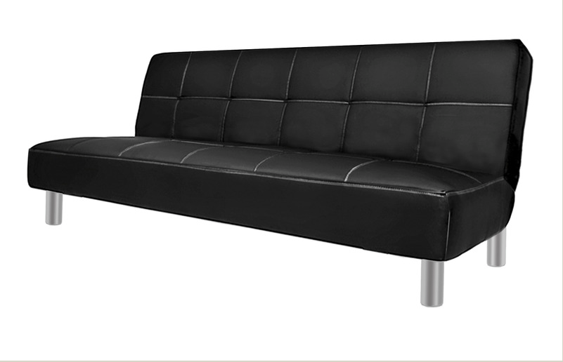 Divano Nero Ecopelle : Divano letto reclinabile ecopelle nero divani.it
