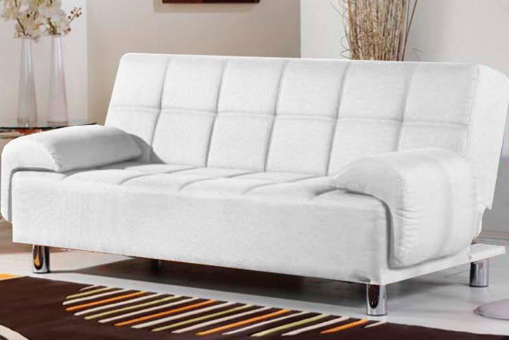 Divano letto reclinabile ecopelle Bianco per ufficio- salotto ...