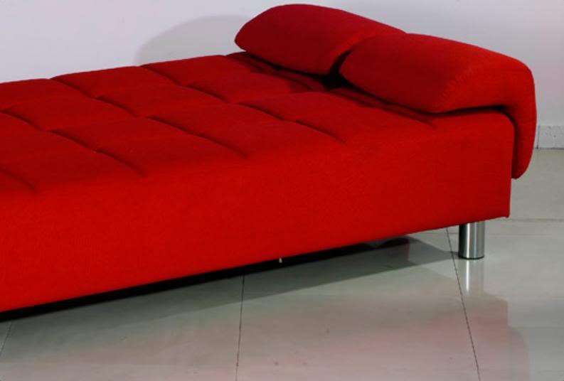 Poltrona Letto Rossa.Divano Letto Reclinabile Ecopelle Rosso Per Ufficio Salotto
