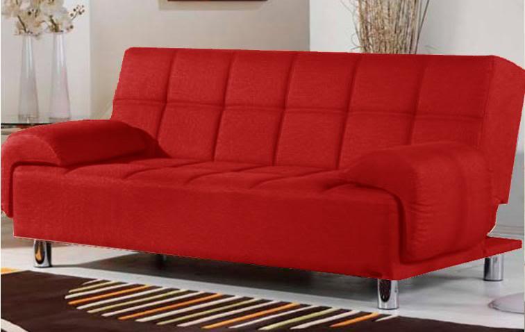 Divano Letto Ecopelle.Divano Letto Reclinabile Ecopelle Rosso Per Ufficio Salotto