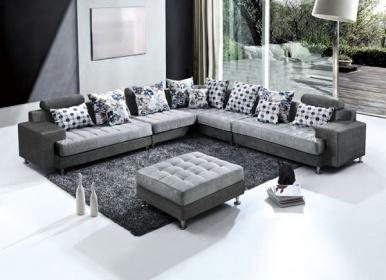 Divano Angolare 4 Posti.Divano Angolare Mega Sofa In Tessuto Divani It