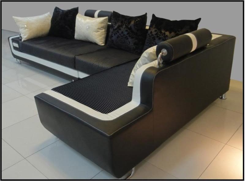Divano Nero E Bianco : Divano in tessuto angolare nero e bianco divani